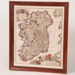 Irish_Routes_Visscher_Map_Framed