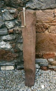 An Ogham stone in Tralee, County Kerry